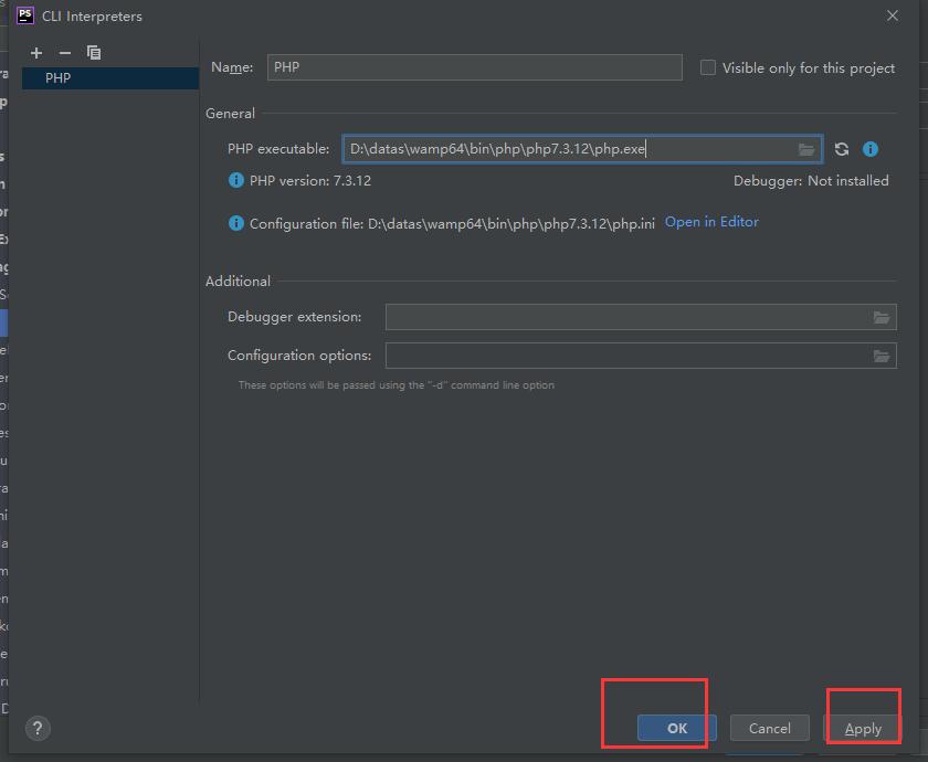 Phpstrom设置PHP运行环境